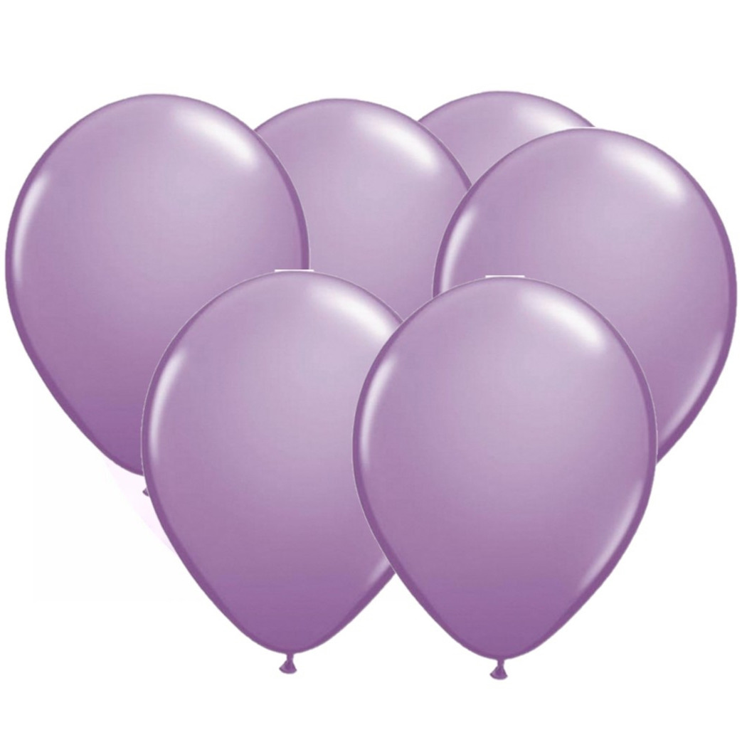 Lavendel paarse party ballonnen 30x stuks 30 cm