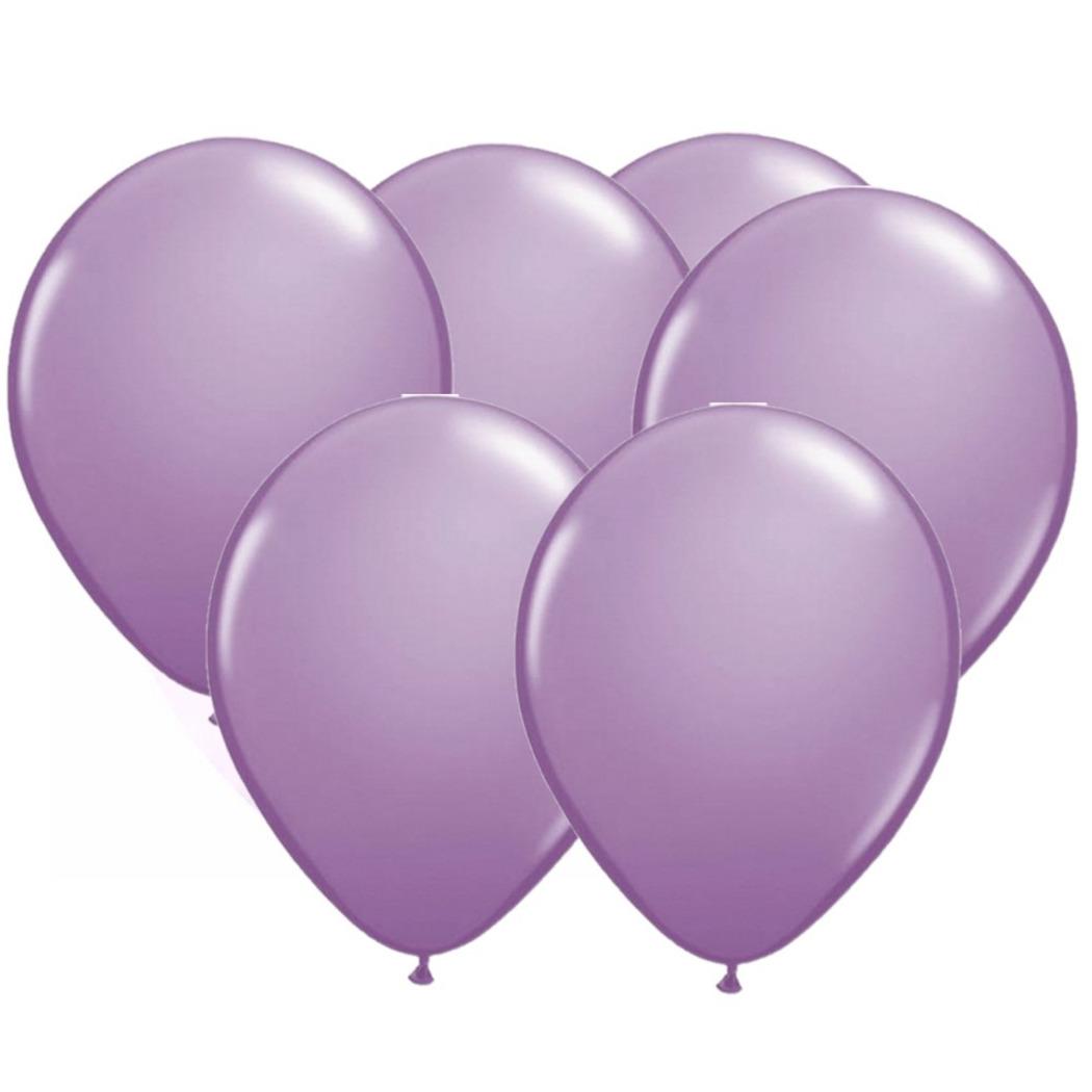 Lavendel paarse party ballonnen 50x stuks 30 cm