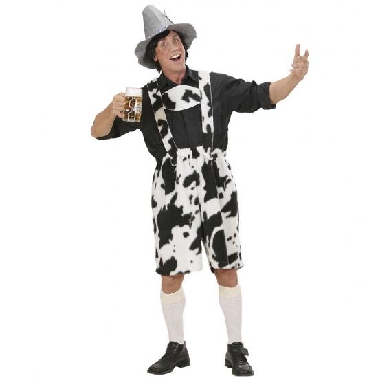 Lederhose met koeienprint