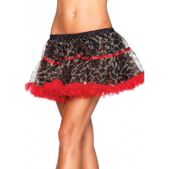 Leg Avenue luxe petticoat/tutu luipaard rood