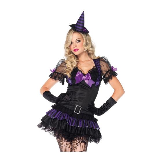Leg Avenue zwart/paars heksen kostuum