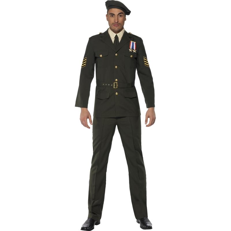 Leger officier kostuum voor heren