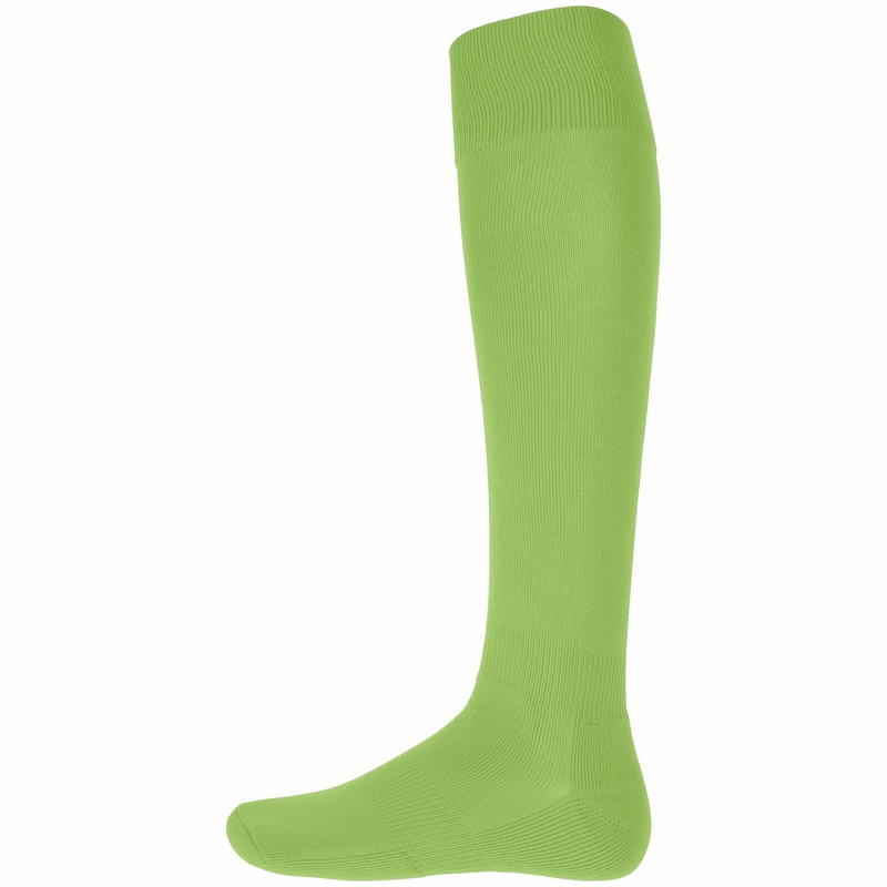 Lime groene hoge sportsokken voor volwassenen Lime