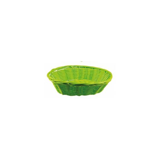 Lime rieten mandje 20 cm Groen