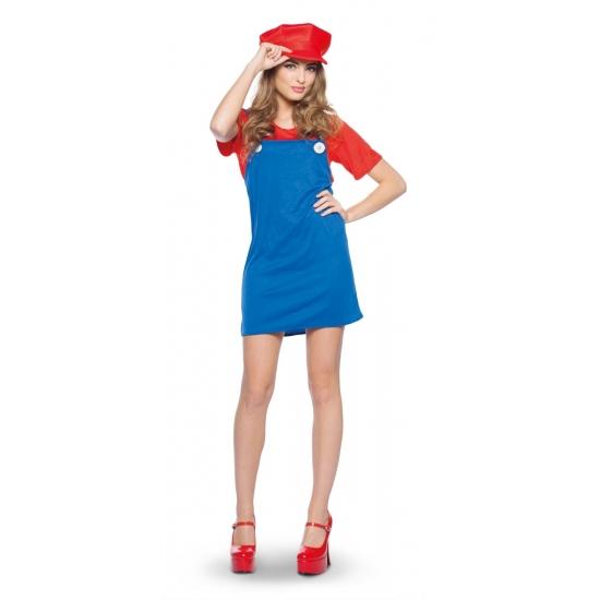 Loodgieter jurkje rood voor dames