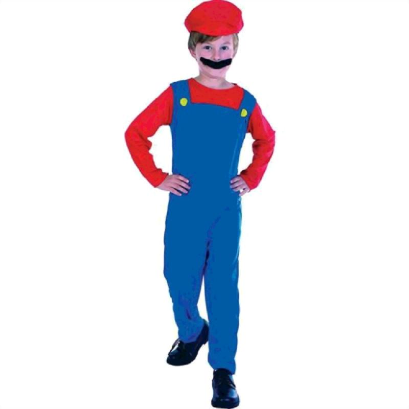 Loodgieter Mario verkleed kostuum voor kinderen