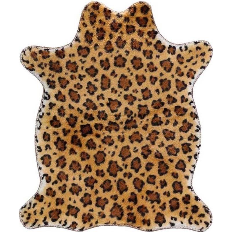 Luipaard nep dierenvel kleed/plaid 90 cm