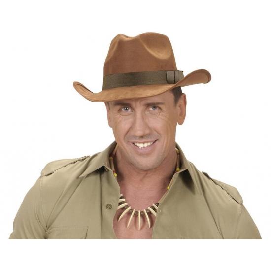 Luxe cowboy hoed bruin