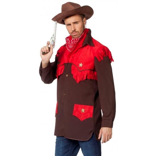 Luxe cowboy verkleed shirt voor heren