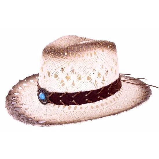 Luxe cowboyhoed met decoratieve band