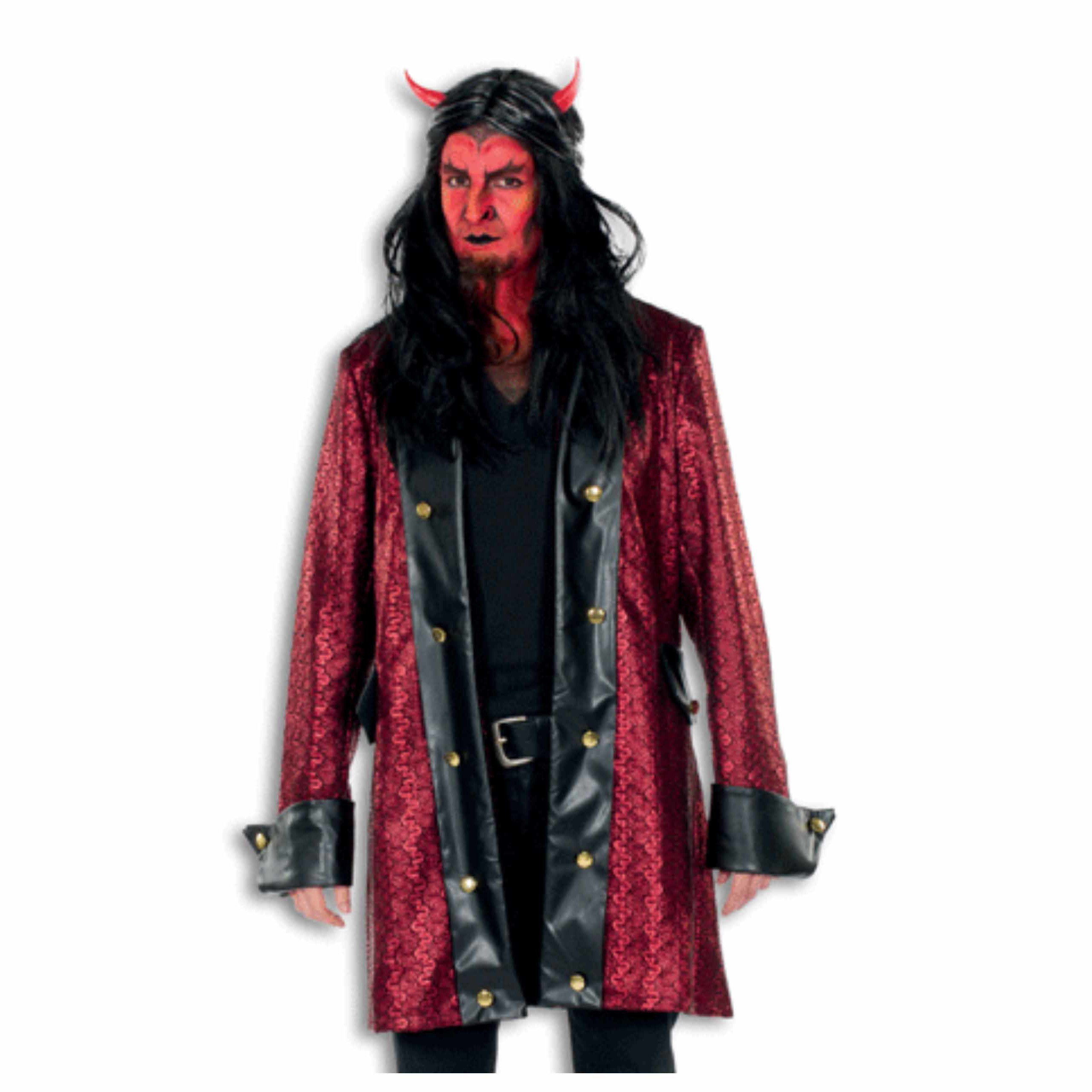 Luxe duivelsjas voor heren rood/zwart