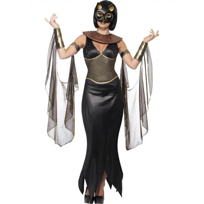 Luxe Egyptische godin Bastet kostuum voor dames