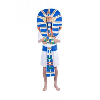 Luxe farao kostuum met hoofdtooi voor heren