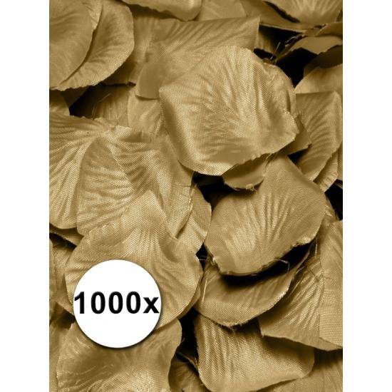 Luxe gouden rozenblaadjes 1000 stuks