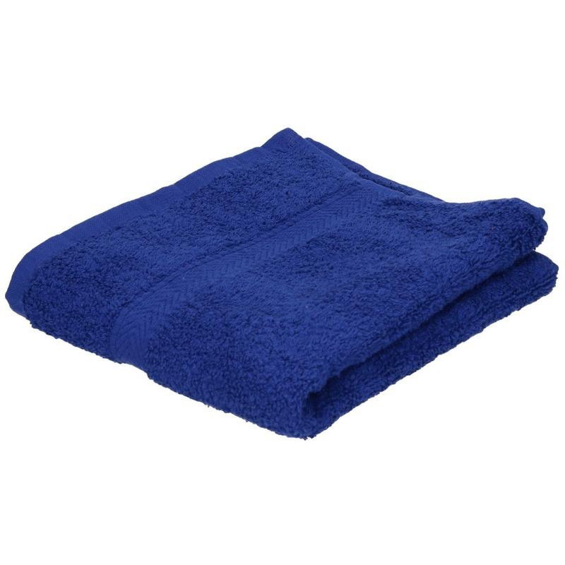 Luxe handdoek blauw 50 x 90 cm 550 grams