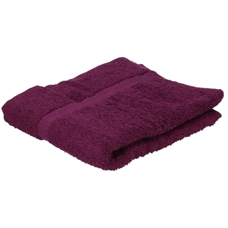 Luxe handdoek bordeaux 50 x 90 cm 550 grams