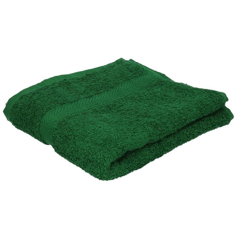 Luxe handdoek donkergroen 50 x 90 cm 550 grams