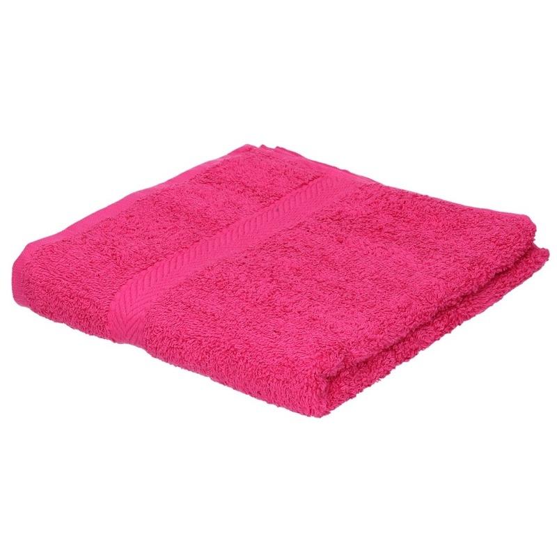 Luxe handdoek fuchsia roze 50 x 90 cm 550 grams