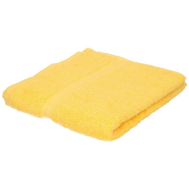 Luxe handdoek geel 50 x 90 cm 550 grams