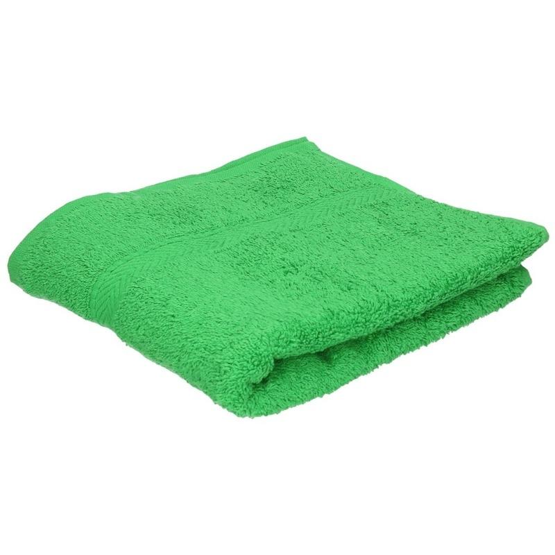 Luxe handdoek groen 50 x 90 cm 550 grams