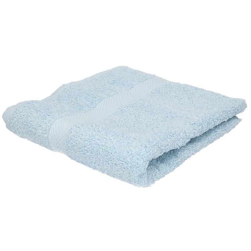 Luxe handdoek lichtblauw 50 x 90 cm 550 grams