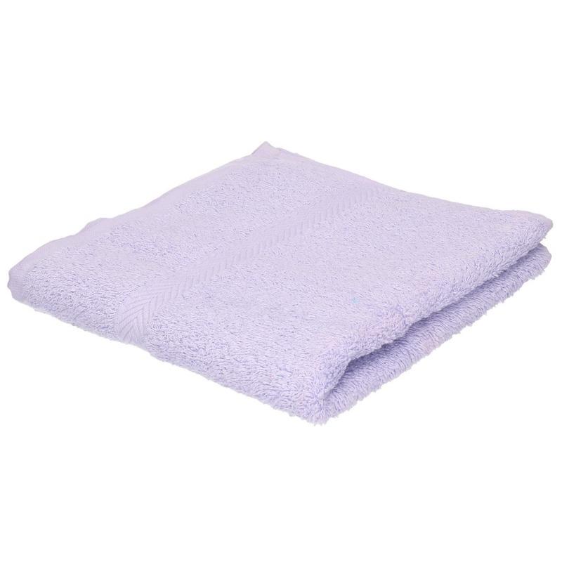 Luxe handdoek lila paars 50 x 90 cm 550 grams
