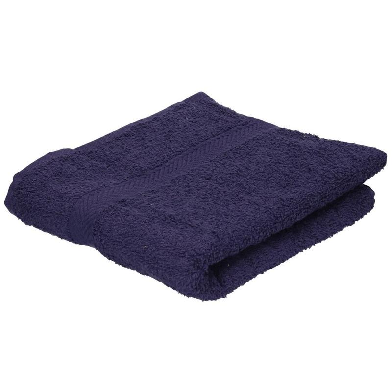 Luxe handdoek navy blauw 50 x 90 cm 550 grams