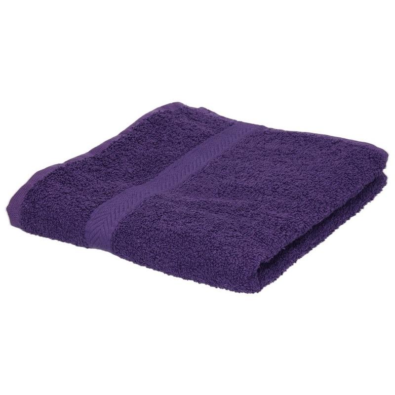 Luxe handdoek paars 50 x 90 cm 550 grams