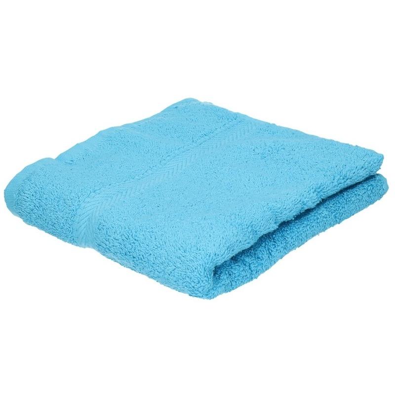 Luxe handdoek turquoise 50 x 90 cm 550 grams