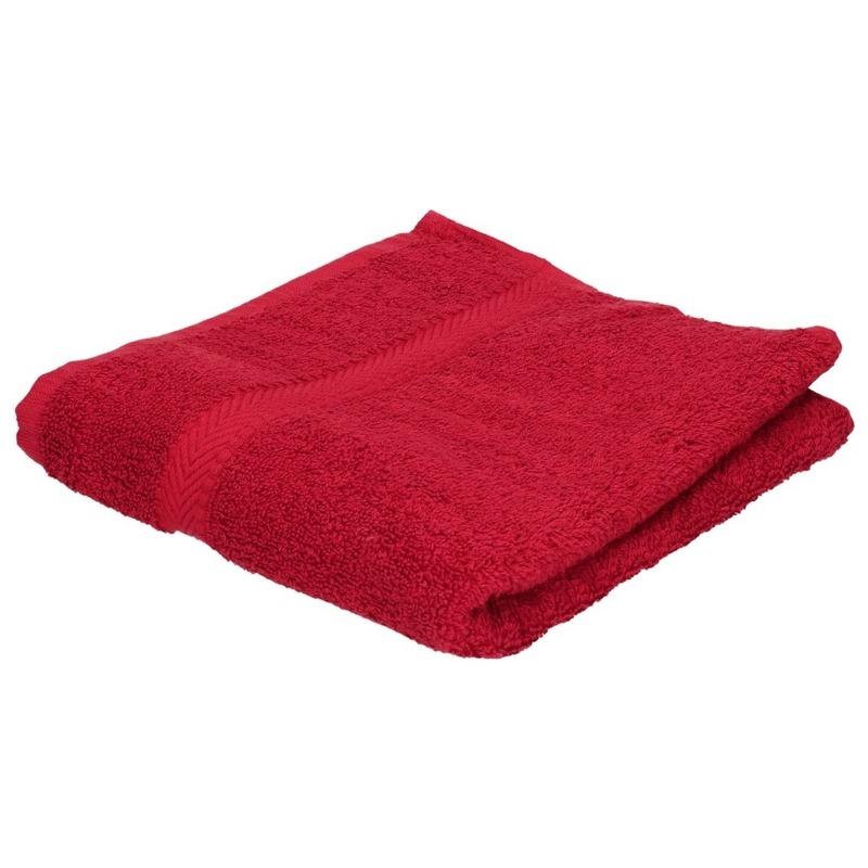 Luxe handdoek wijnrood 50 x 90 cm 550 grams