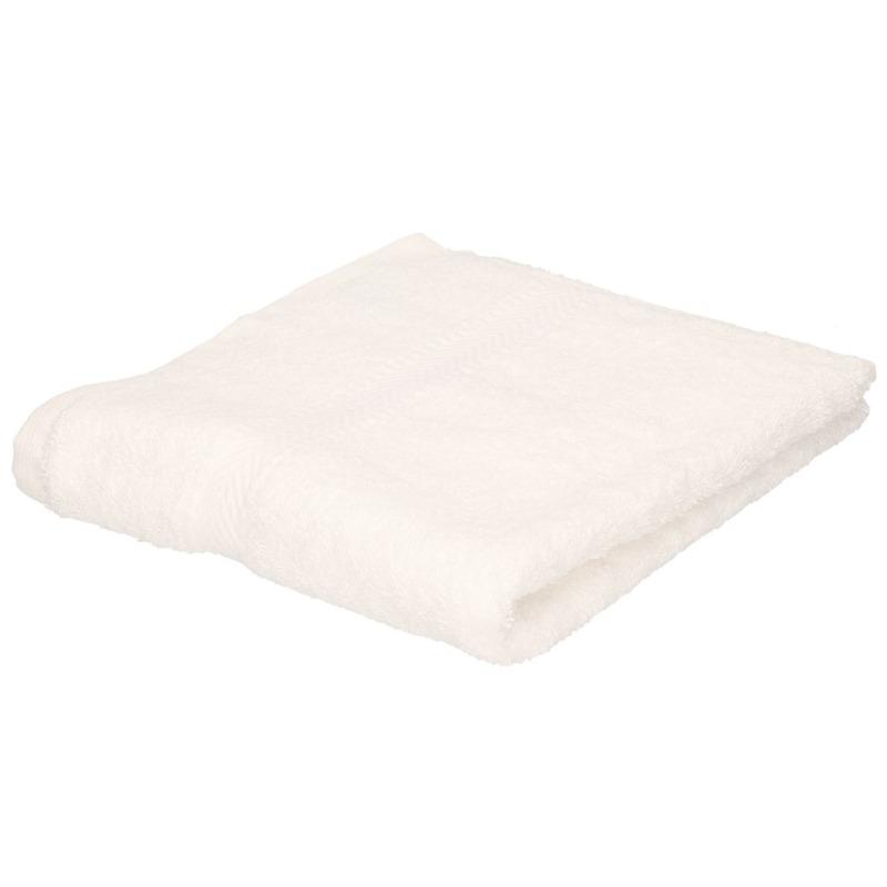 Luxe handdoek wit 50 x 90 cm 550 grams