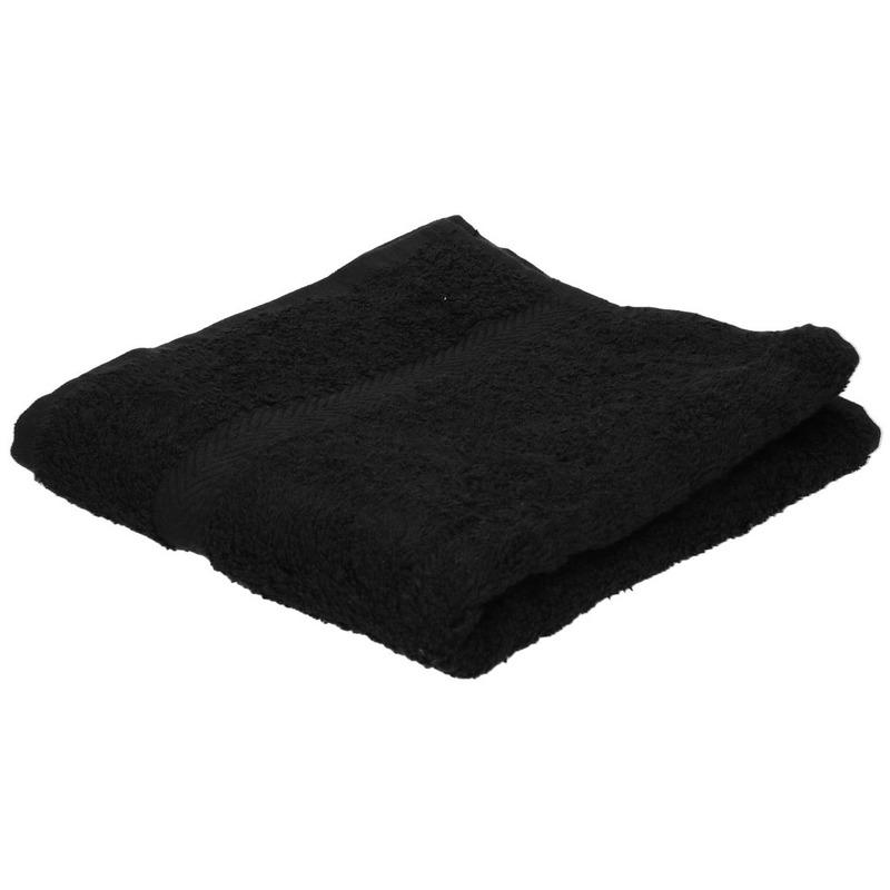 Luxe handdoek zwart 50 x 90 cm 550 grams