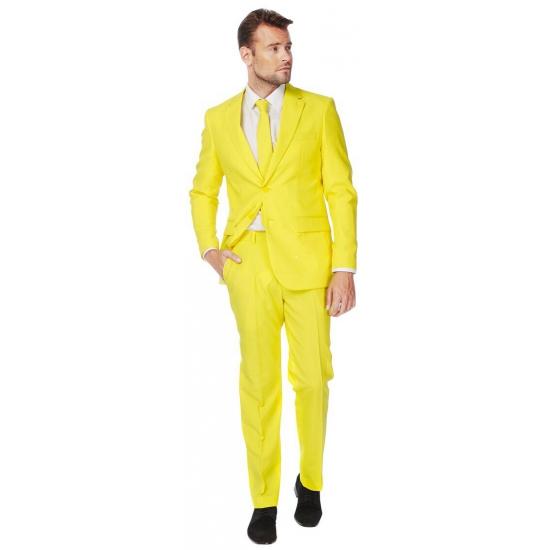 Luxe heren kostuum geel