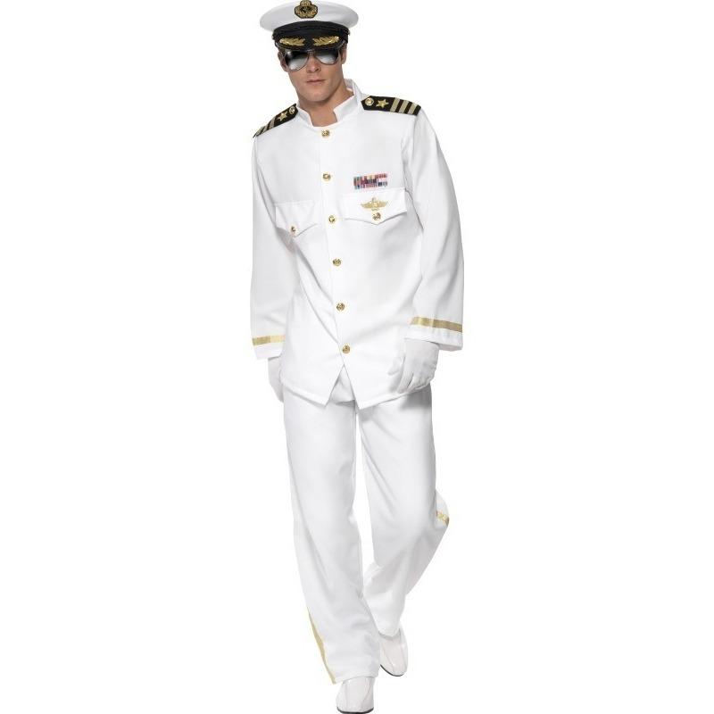 Luxe kapitein kostuum voor heren
