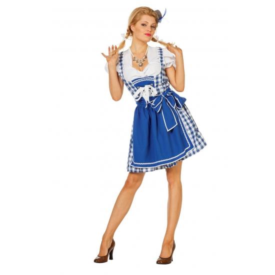 Luxe oktoberfest jurk sexy blauw