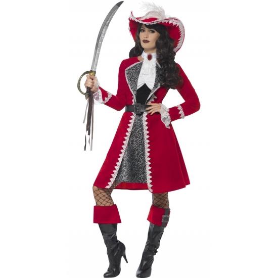 Luxe piraat kapitein kostuum voor dames