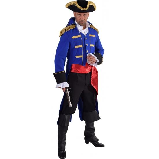 Luxe piraten jas blauw voor heren