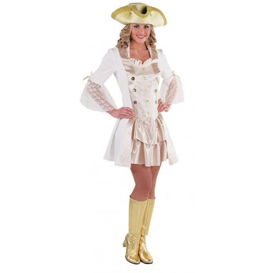 Luxe piraten jurkje wit