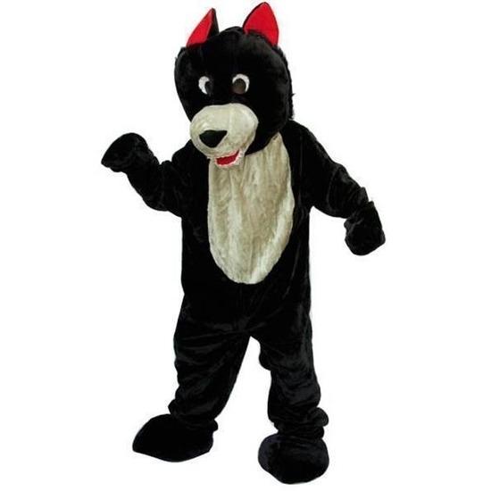 Luxe pluche wolf kostuum