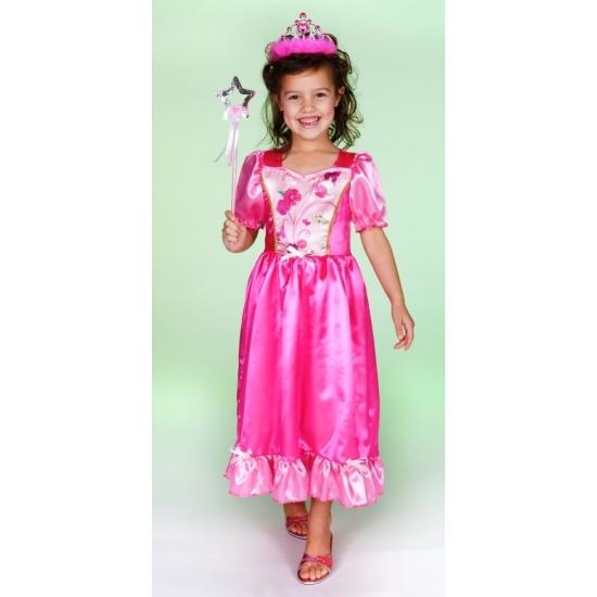 Luxe prinses jurk roze lang
