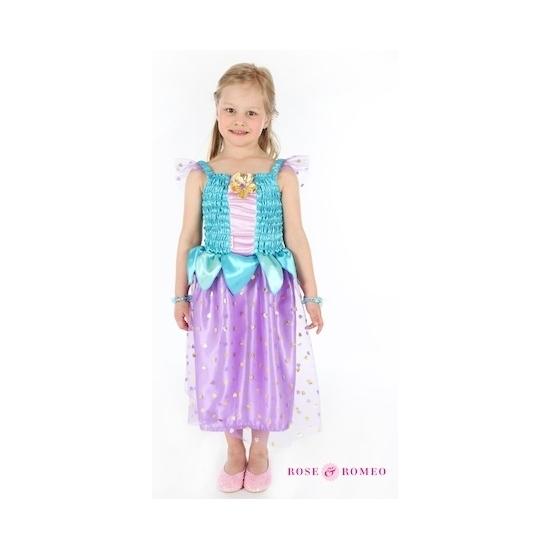Luxe prinses jurkje blauw/paars