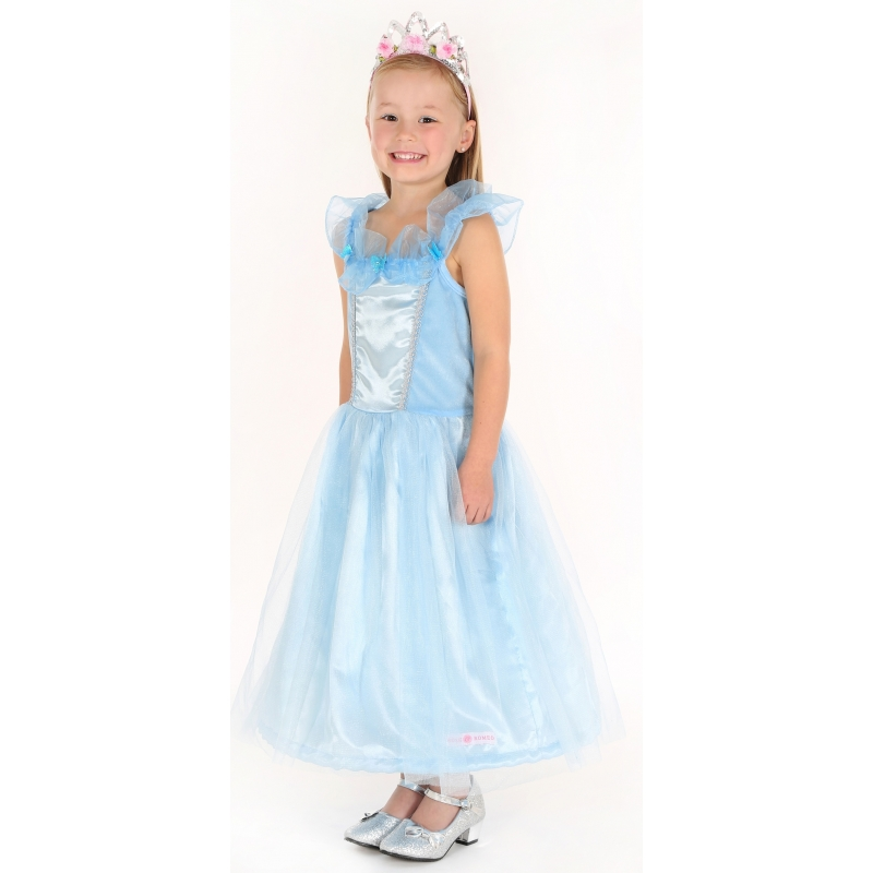 Luxe prinses jurkje blauw