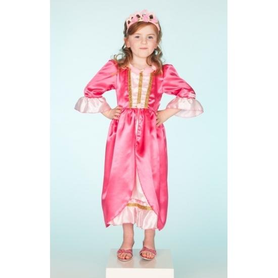 Luxe prinsessen jurk roze