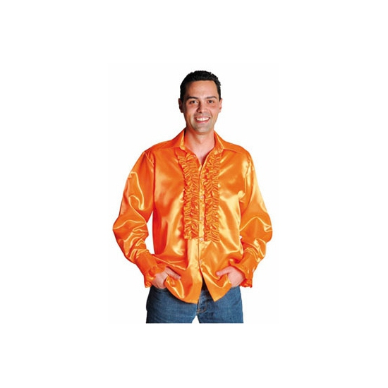 Luxe rouches blouse oranje