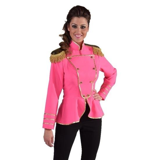 Luxe roze uniform jas voor dames