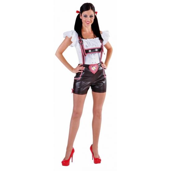 Luxe Tiroler lederhose hotpants voor dames