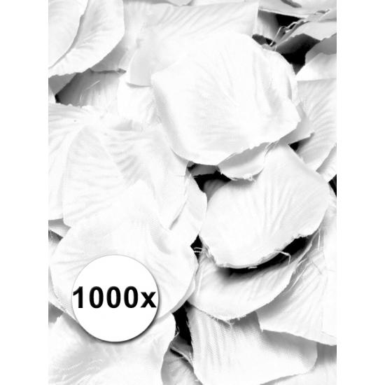 Luxe witte rozenblaadjes 1000 stuks