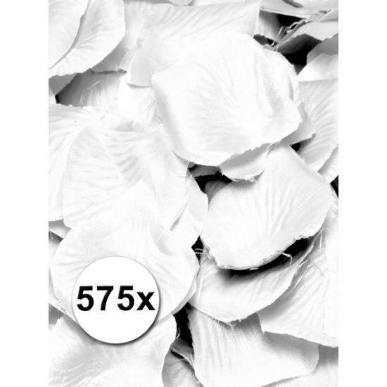 Luxe witte rozenblaadjes 575 stuks