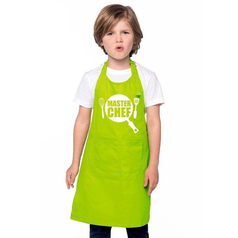 Master chef keukenschort lime groen kinderen