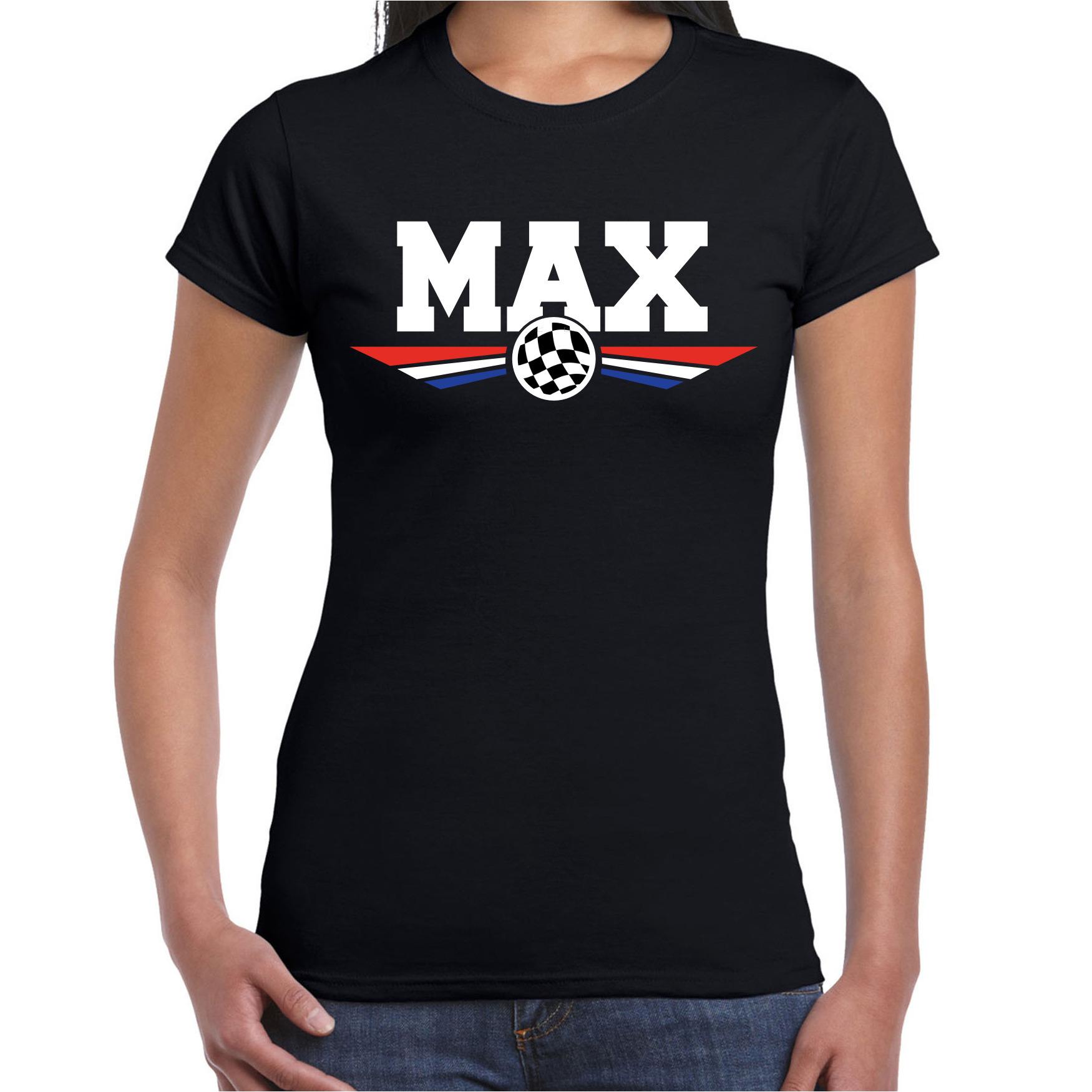 Max supporter - race fan t-shirt zwart voor dames